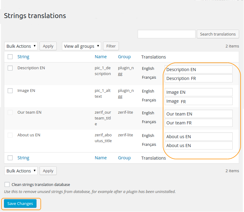 Strings translation – Polylang